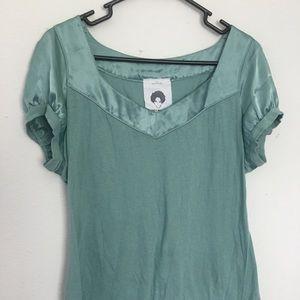 Teal blouse tee